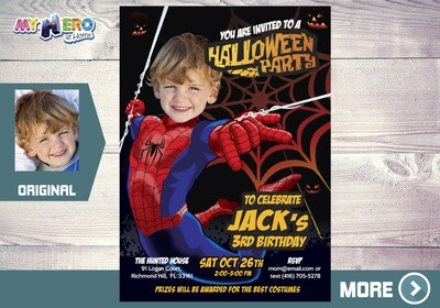 Halloween Spider-Man Invitation. 104
