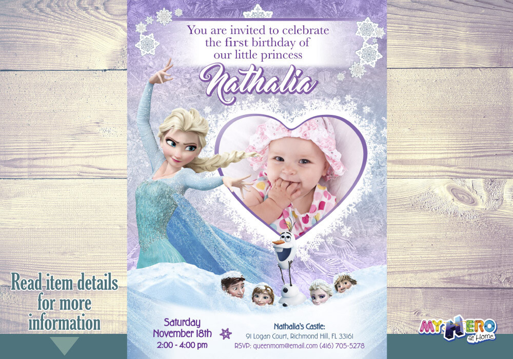 Baby Frozen Invitation. Frozen Party Invitation. 273