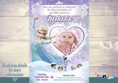 Baby Frozen Invitation. Frozen Party Invitation. 273