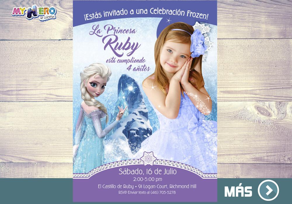 Fiesta tema Frozen. Invitación Frozen Elsa. 283SP
