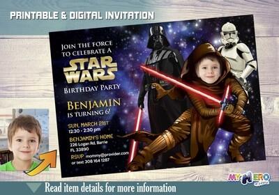Kylo Ren Birthday Invitation. Star Wars Dark Side Birthday Ideas. Stormtroopers. Turn your kid into Kylo Ren. Kylo RenParty Ideas. 011