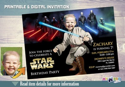 Star Wars Jedi Birthday Invitation. Turn your kid into a Jedi. Star Wars Birthday Ideas. Jedi Party Ideas. Star Wars Party Invitations. 019