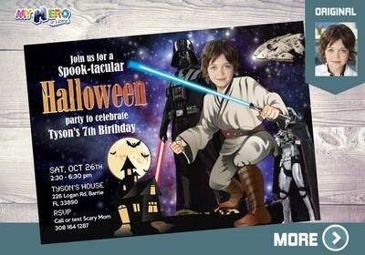 Star Wars Halloween Invitation. 032