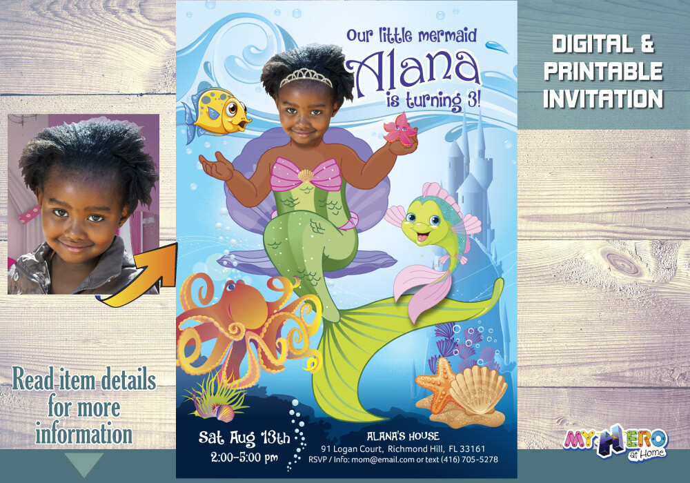 Little Mermaid Invitation. Little Mermaid Party Ideas. Little Mermaid Themed Party. Little Mermaid Birthday Ideas. Fiesta tema Sirenita. 238