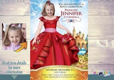 Princess Elena of Avalor Invitation. Princess Elena of Avalor Party. Princess Elena of Avalor Birthday. Princess Elena Themed Party. 247