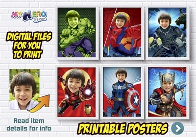 Avengers Posters. Posters of Hulk, Spiderman, Ironman, Thor, Captain America and more. Avengers Wall Decor. Avengers Room Decor. 412