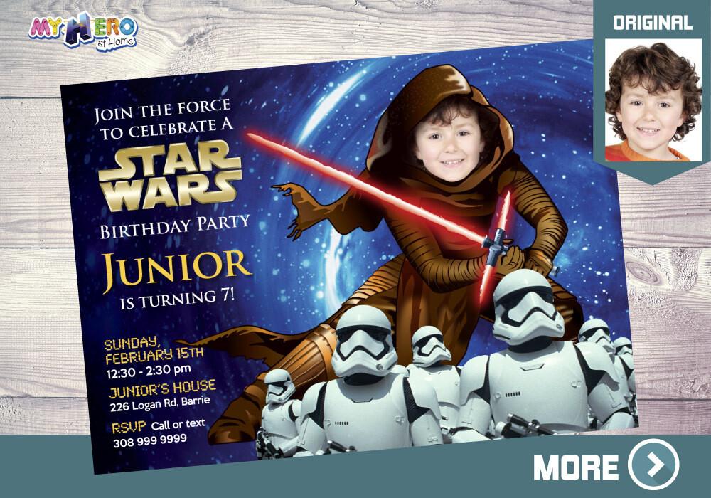 Dark Side Birthday Invitation. Turn your kid into Kylo Ren. Star Wars Dark Side. Star Wars Birthday Ideas. Stormtroopers. Kylo Ren Bday. 020