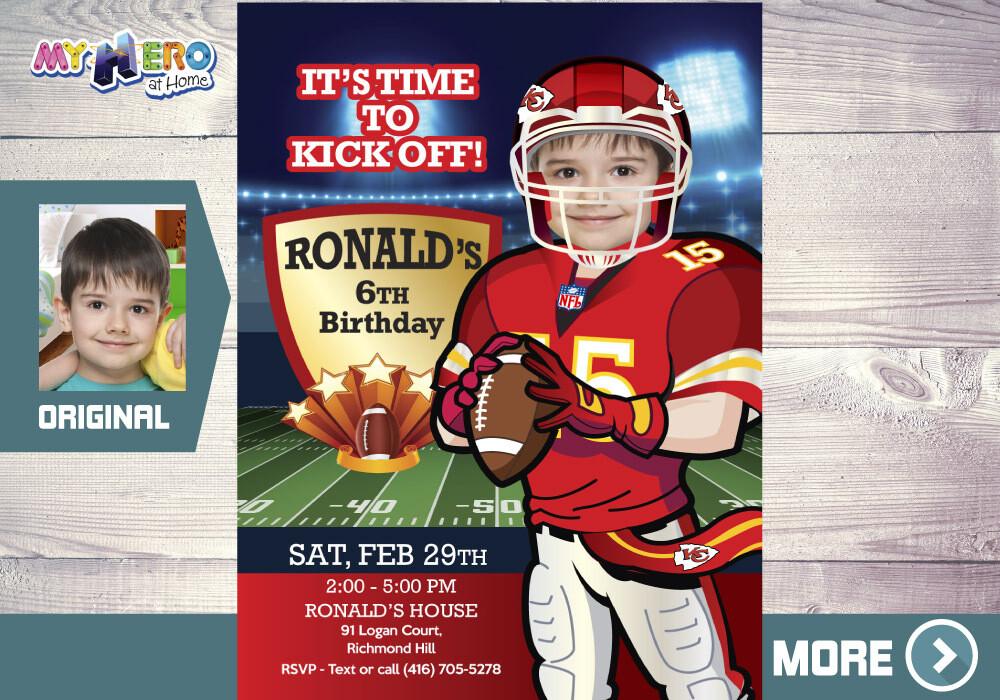 Kansas City Chiefs Invitation. Kansas City Chiefs Party. 342