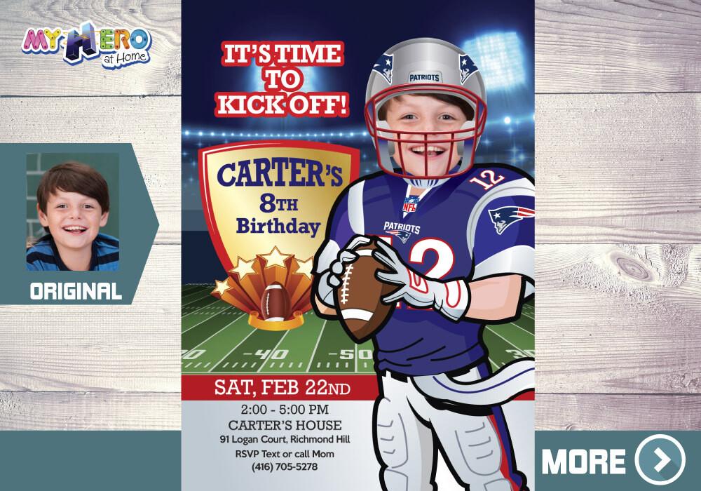 New England Patriots Invitation. New England Patriots Party. 343