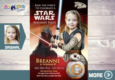 Jedi Rey Party ideas. Jedi Rey Invitation. Girly Star Wars Party Ideas. Star Wars Invitation for Girls. Jedi Rey Decoration. 038