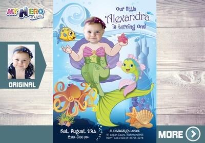 Little Mermaid Invitation. Little Mermaid Party Ideas. Little Mermaid Themed Party. Little Mermaid Birthday Ideas. Fiesta tema Sirenita. 237