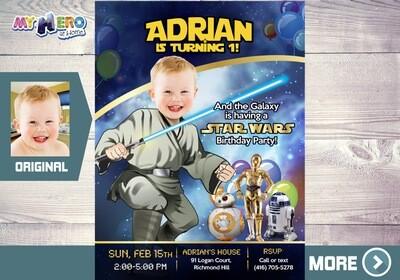 Star Wars 1st Invitation. Star Wars 1st Birthday. Baby Jedi 1st Party. First Birthday Jedi. Baby Jedi Invitation. Jedi 1st Birthday. 017