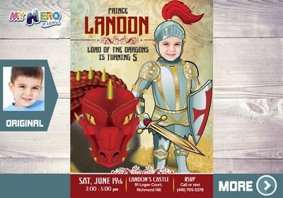 Knight Invitation. Knight Party. Medieval Invitation. 218