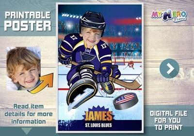 Hockey Poster. Hockey Room Decor. Hockey Backdrop. Hockey Art poster. Custom Hockey Poster. Ice Hockey Poster. Hockey Fans Gifts. 347