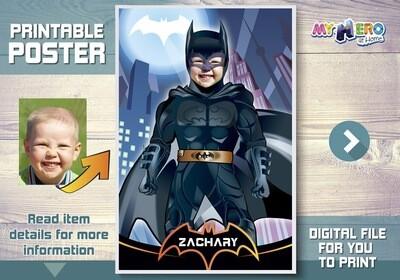 Batman Poster. Batman Room Decor. Batman Wall decor. Batman Backdrop. Batman decal. Custom Batman Poster. Batman Decor. Batman Gifts. 370