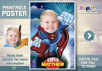 Superman Poster. Superman decoration. Superman art poster. Superman Room decor. Afiche Superman. Custom Superman Poster. Superman Backdrop. 369