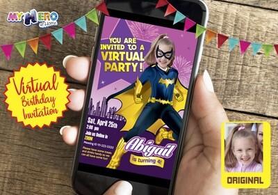 Batwoman Virtual Birthday Invitation. Batwoman Birthday Reminder. Batwoman Custom Poster. Super Hero Girl Quarantine. Girls Quarantine Birthday. 185CV