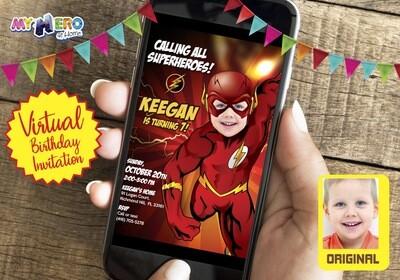 Flash Virtual Birthday Invitation. Flash Birthday Reminder. Flash Virtual Party. Flash Custom Poster. Justice League Quarantine Ideas. 149CV