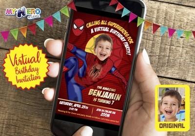 Spider-Man Virtual Birthday Invitation. Spider-Man Birthday Reminder. Spider-Man Virtual Party. Spider-Man Custom Poster. Avengers Quarantine Ideas. 102CV