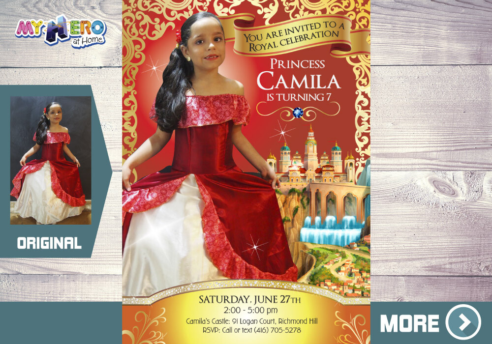 Princess Elena of Avalor Birthday Invitation. Princess Elena of Avalor Photo Invitation. Your Own Princess Elena Photo. 248B