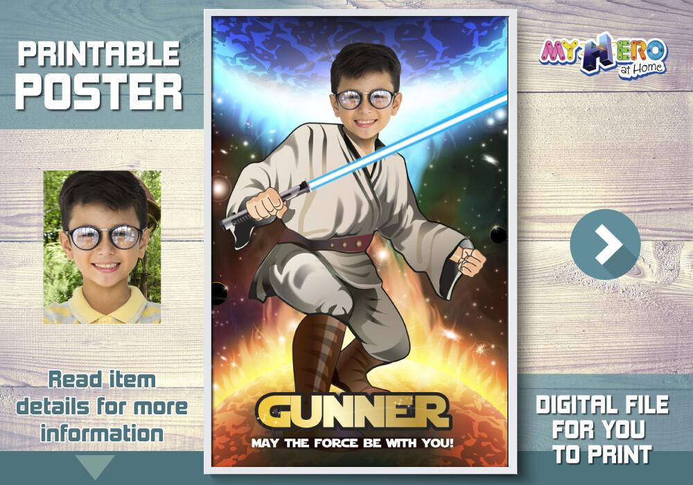 Star Wars Poster. Star Wars Backdrop. Star Wars Wall Decal. Custom Jedi Poster. Star Wars Art Poster. Jedi Fans Ideas. Jedi Party Decor. 357