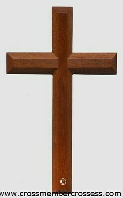Edge Beveled Traditional Wooden Cross - 8