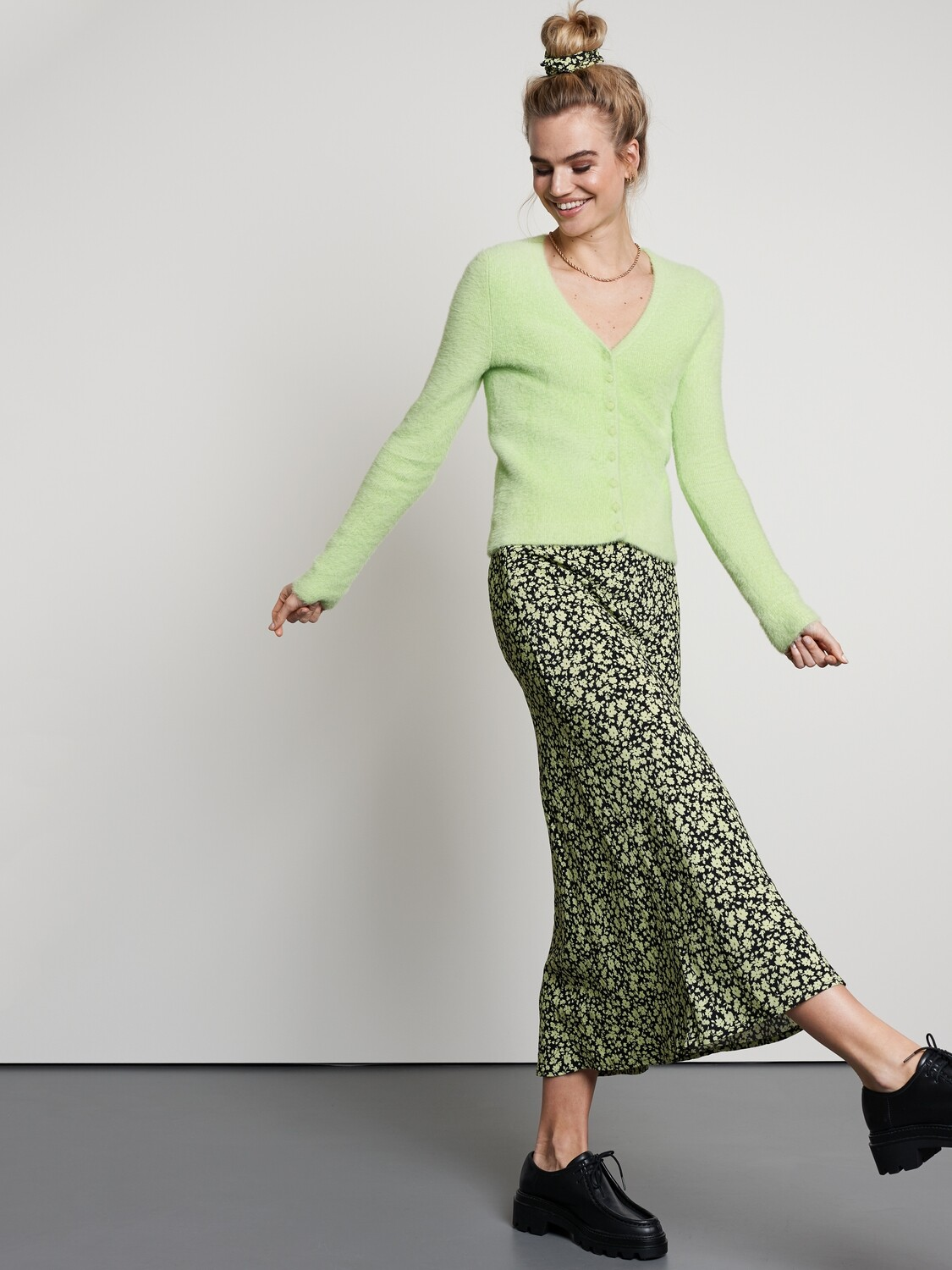 Lime Flowers Skirt