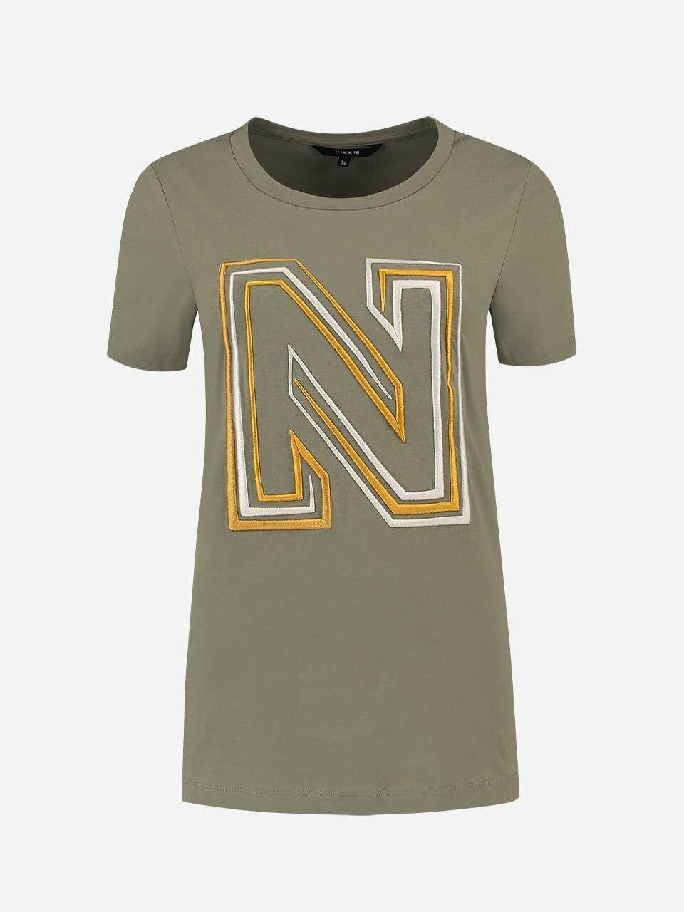 N Logo Embroidery Shirt