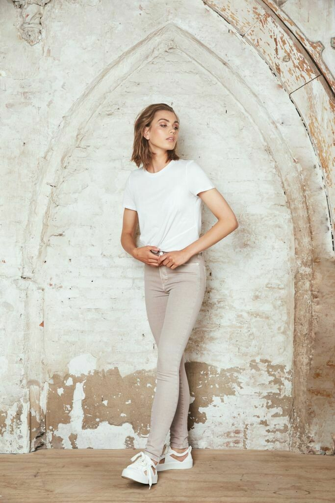Colored Skinny Jeans Taupe