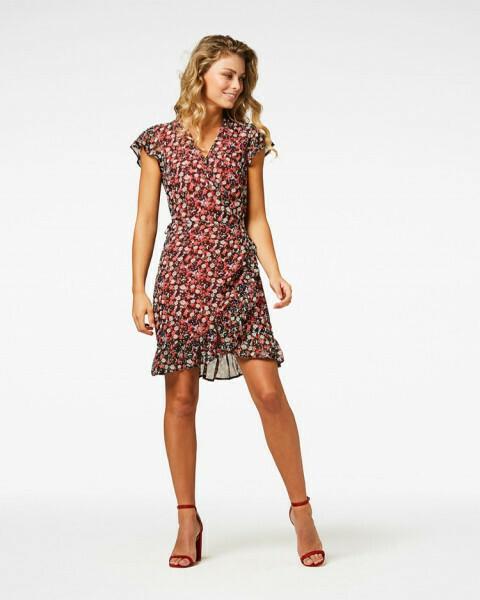Rosy Wrap Dress
