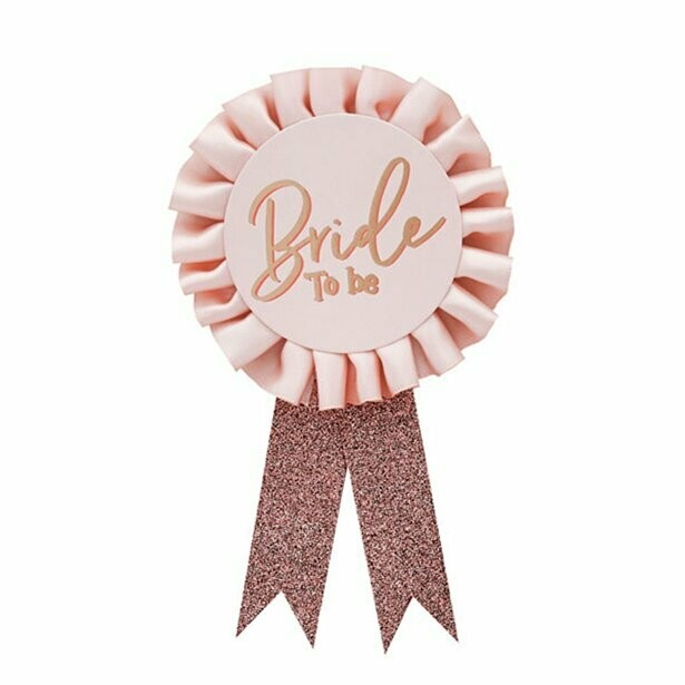 """Bride to be"" badge"