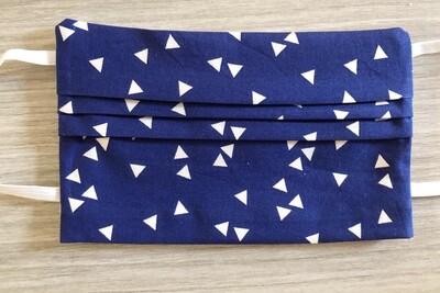 Mondmasker - Bedrukt - Blauw Triangle