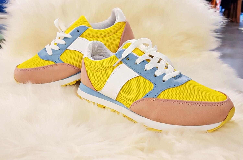 Sneaker geel/blauw