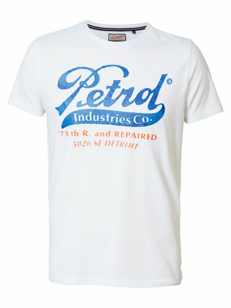T-shirt Petrol white