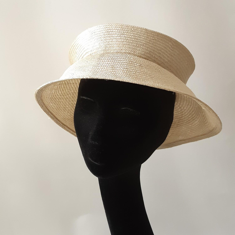 Opvouwbare hoed  in parasisal met 1 plooi