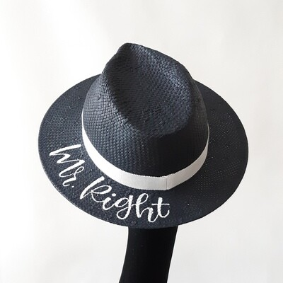 Fedora hoed (3) met tekst