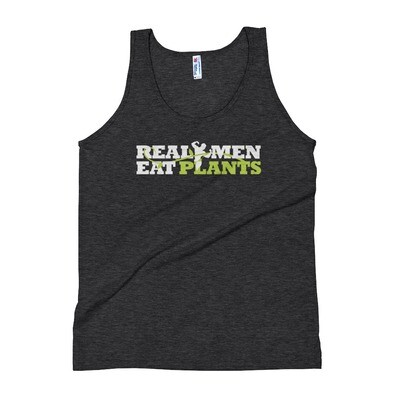 Real Men Eat Plants Tank Top - Black