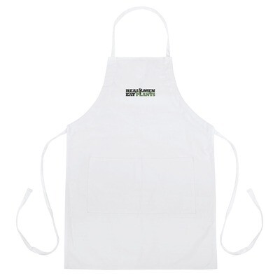 Real Men Eat Plants Apron - White