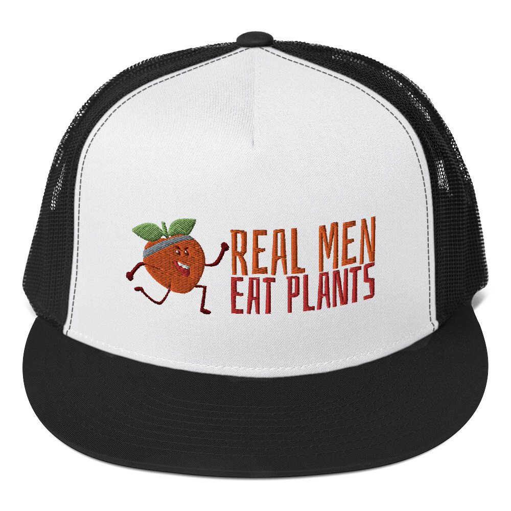 Real Men Eat Plants Trucker Hat - Peach