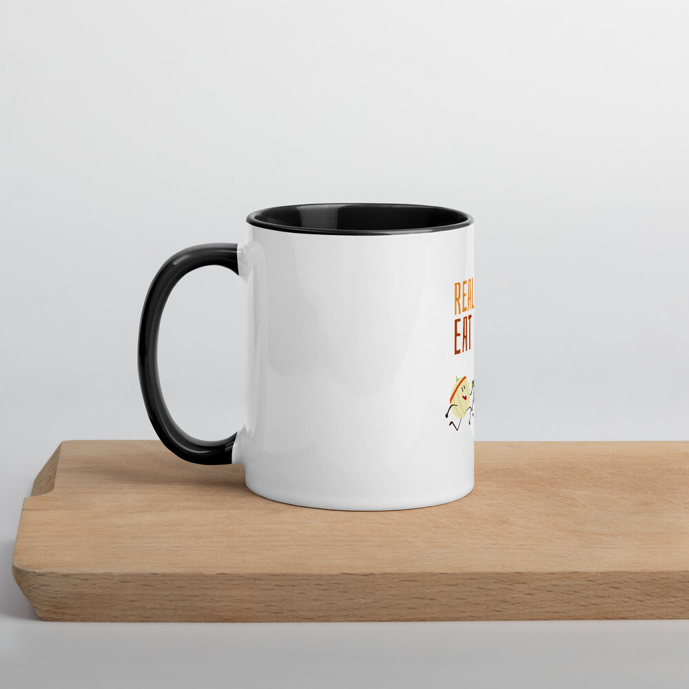 Real People Eat Plants Mug with Color Inside