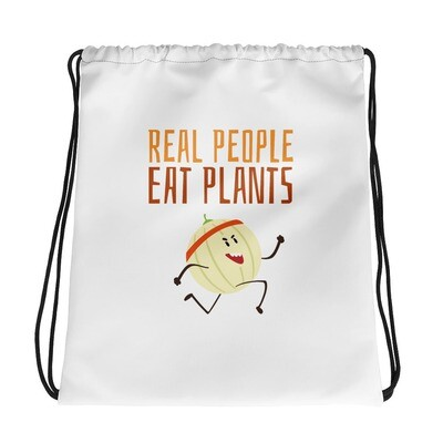 Real People Eat Plants Drawstring bag Cantaloupe