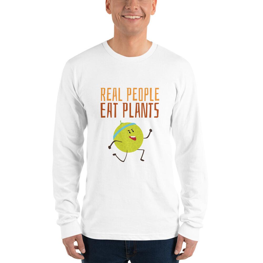Real People Eat Plants Long sleeve t-shirt Muskmelon