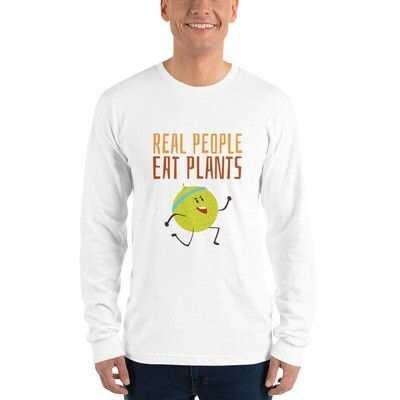 Real People Eat Plants Long sleeve t-shirt Muskmelon