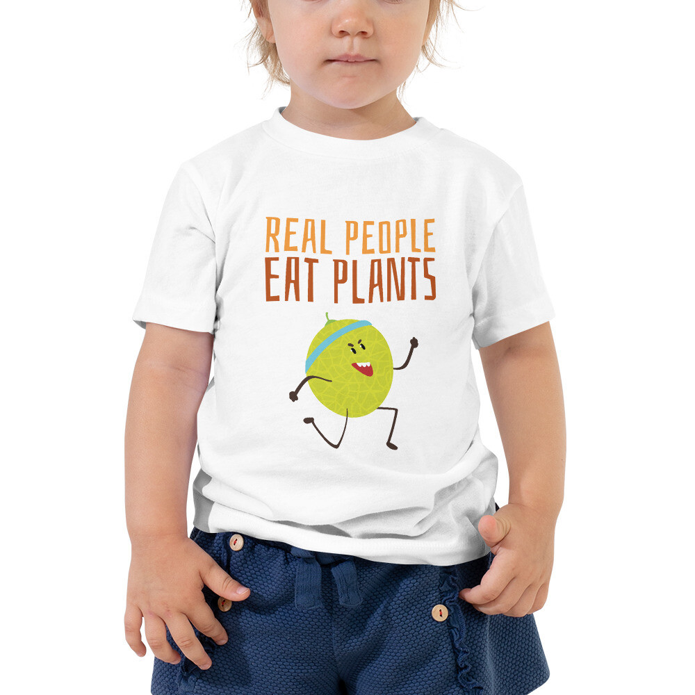 Real People Eat Plants Toddler Short Sleeve Tee Muskmelon