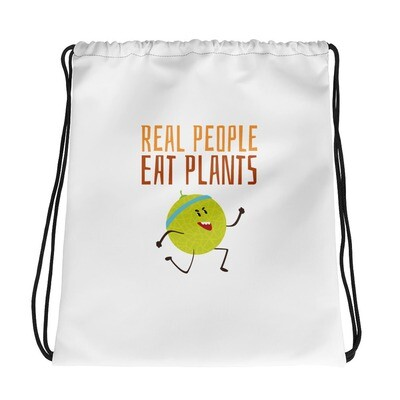Real People Eat Plants Drawstring bag Muskmelon