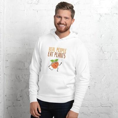 Real People Eat Plants Unisex hoodie Peach