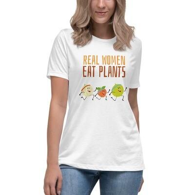 Real Women Eat Plants Women's Relaxed T-Shirt All Fruit