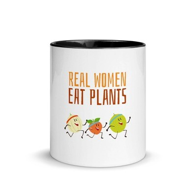 Real Women Eat Plants Mug with Color Inside All Fruit