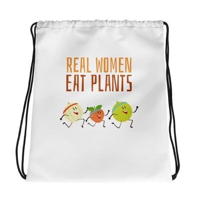 Real Women Eat Plants Drawstring bag All Fruit