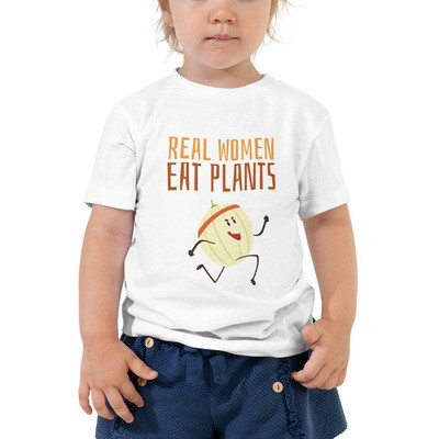 Real Women Eat Plants Toddler Short Sleeve Tee Cantaloupe